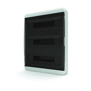 BNK 40-36-1 Щит навесной 36 мод. IP40 прозрачная черная дверца Tekfor