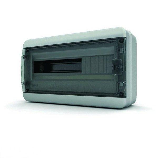 BNK 65-18-1 Щит навесной 18 мод. IP65, прозрачная черная дверца Tekfor