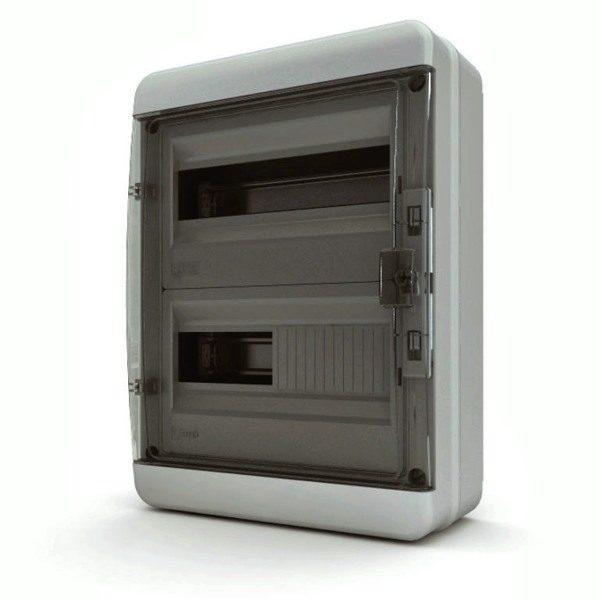 BNK 65-24-1 Щит навесной 24 мод. IP65, прозрачная черная дверца Tekfor