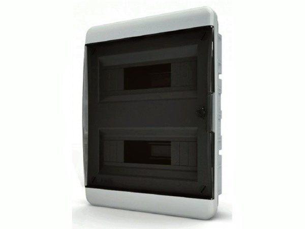 BVK 40-24-1 Щит встраиваемый 24 мод. IP40 прозрачная черная дверца Tekfor