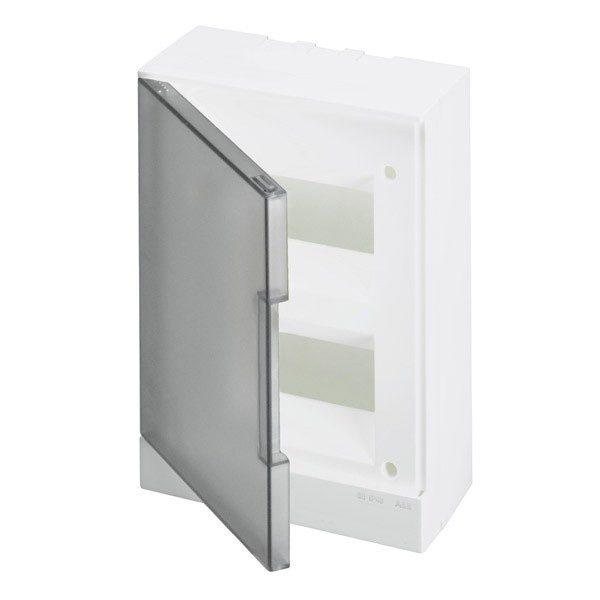 Бокс настенный Basic E ЩРн-П 16М серая прозрачная дверь