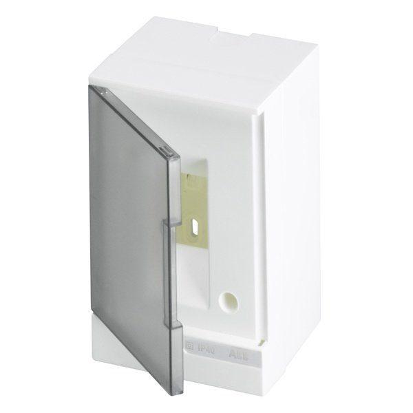 Бокс настенный Basic E ЩРн-П 2М серая прозрачная дверь