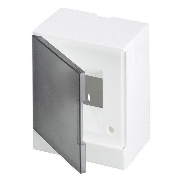 Бокс настенный Basic E ЩРн-П 4М серая прозрачная дверь