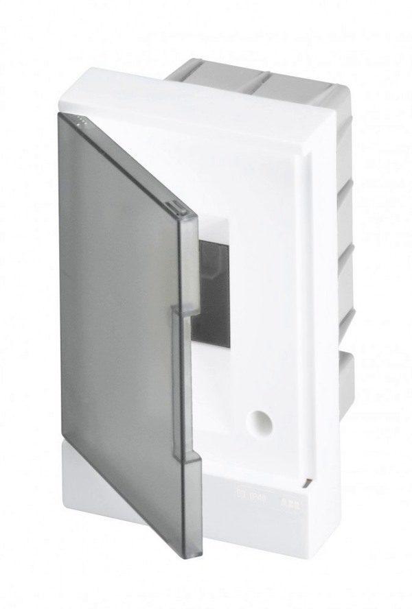Бокс в нишу Basic E ЩРв-П 2М серая прозрачная дверь
