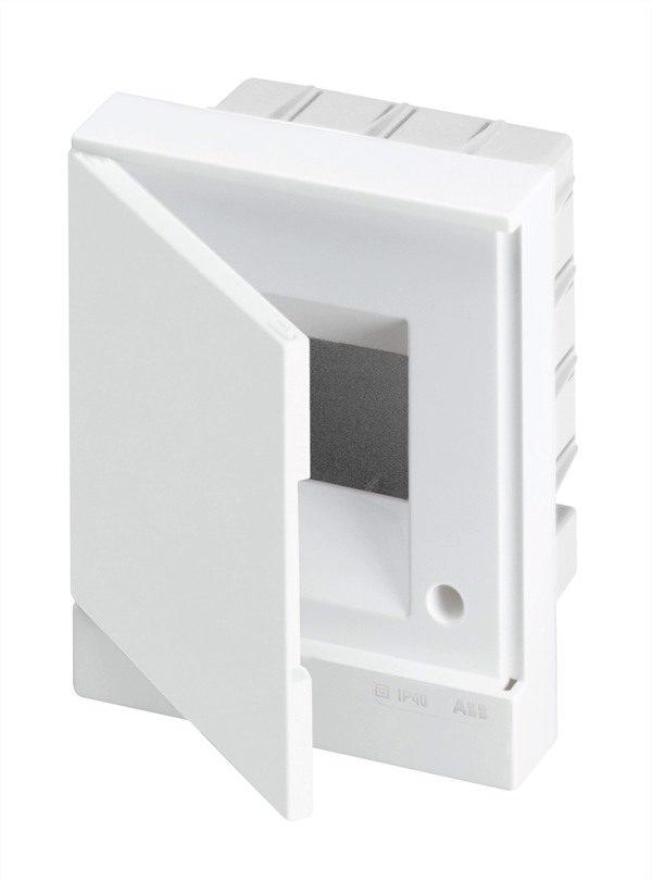 Бокс в нишу Basic E ЩРв-П 4М белая непрозрачная дверь