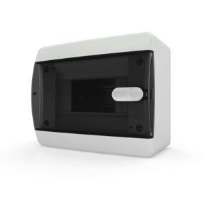 CNK 40-06-1 Щит навесной 6 мод. IP40 прозрачная черная дверца Tekfor