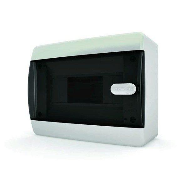 CNK 40-12-1 Щит навесной 12 мод. IP40 прозрачная черная дверца Tekfor