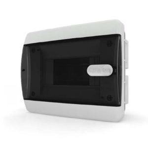 CVK 40-06-1 Щит встраиваемый 6 мод. IP40 прозрачная черная дверца Tekfor