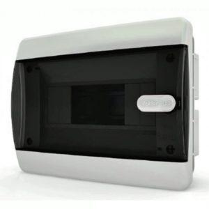 CVK 40-08-1 Щит встраиваемый 8 мод. IP40 прозрачная черная дверца Tekfor