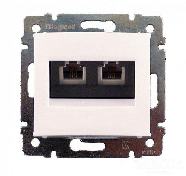 Розетка компьютерная RJ45 Legrand Valena белый 2-ая UTP