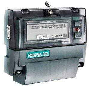 Счетчик электроэнергии однофазный многотарифный Меркурий 200.02 60