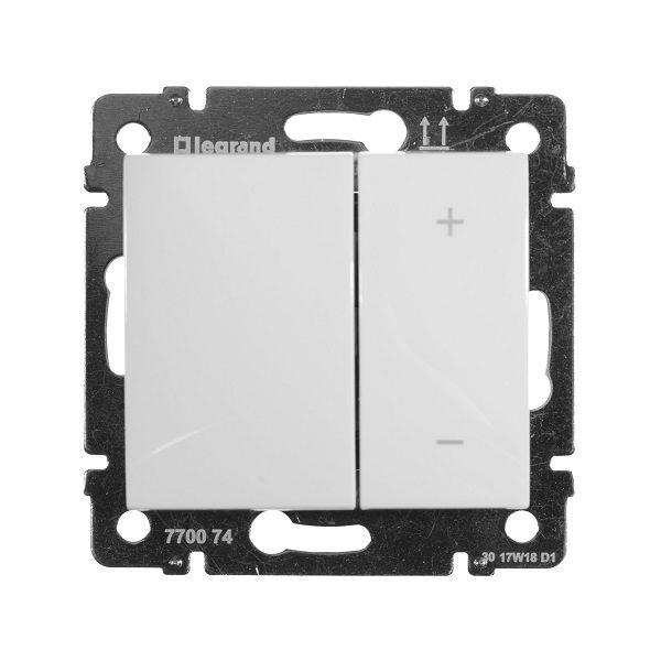 Светорегулятор Legrand Valena белый нажимной 40-600W для л-н и обмоточных т-ров