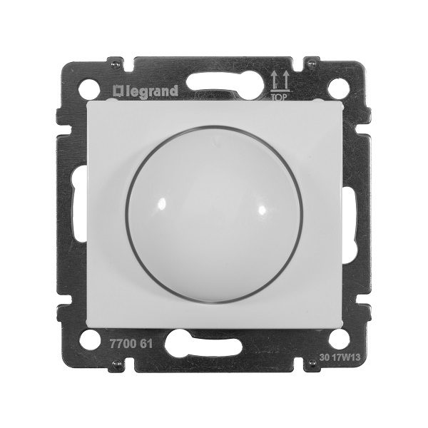 Светорегулятор Legrand Valena белый поворотный 40-400W для ламп накаливания (вкл поворотом)