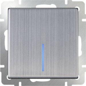WL02-SW-1G-2W-LED Выключатель одноклавишный проходной с подсветкой