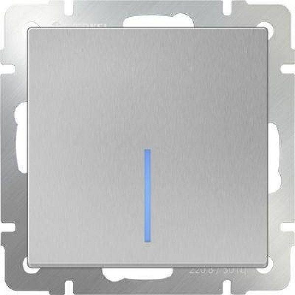 WL06-SW-1G-2W-LED Выключатель одноклавишный проходной с подсветкой