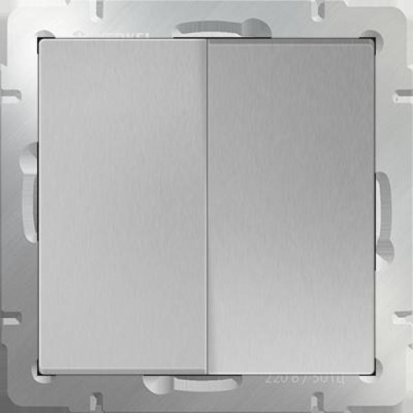 WL06-SW-2G-2W Выключатель двухклавишный проходной