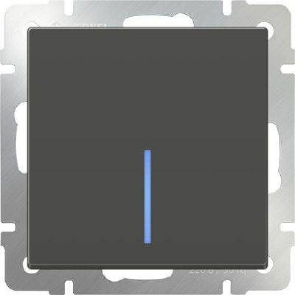 WL08-SW-1G-2W-LED Выключатель одноклавишный проходной с подсветкой
