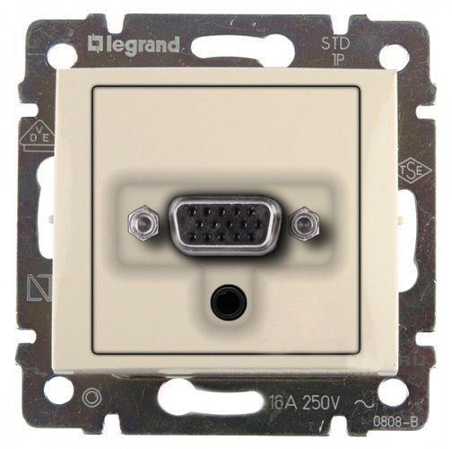 Розетка HD15+Jack 3,5 Legrand Valena Крем