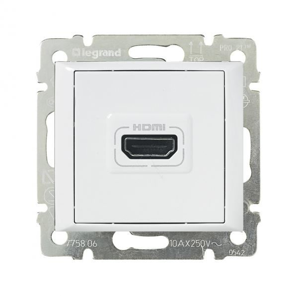 Розетка HDMI Legrand Valena белый