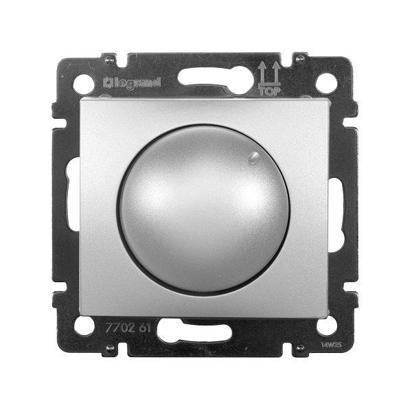 Светорегулятор Legrand Valena Алюминий поворотный 40-400W для ламп накаливания (вкл поворотом)