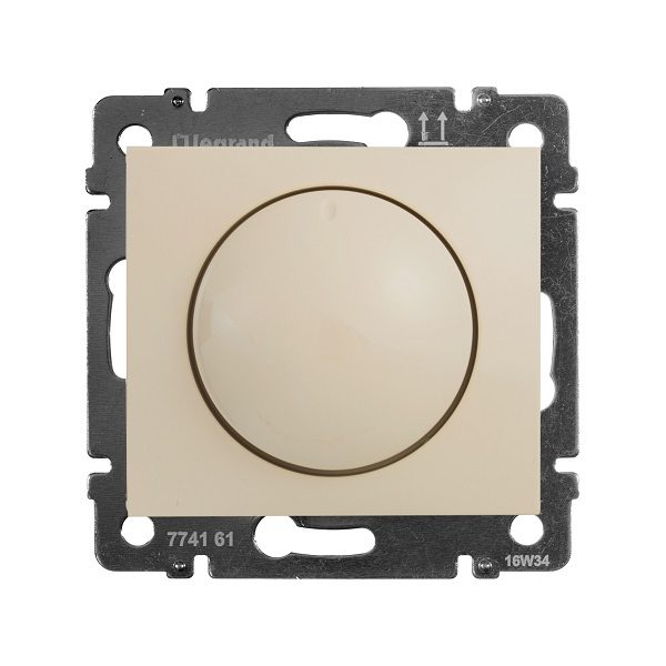 Светорегулятор Legrand Valena Крем поворотный 40-400W для ламп накаливания (вкл поворотом)