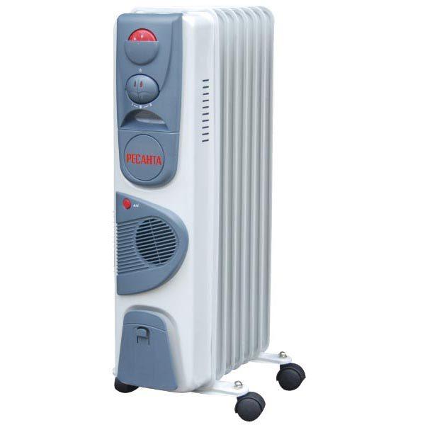 Масляный радиатор напольный ОМ-7НВ с тепловентилятором