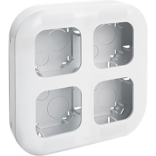 Рамка четырехпостовая Legrand Quteo белая
