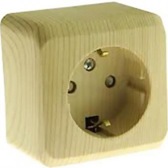 Розетка одинарная с заземлением со шторками Schneider Electric Этюд сосна