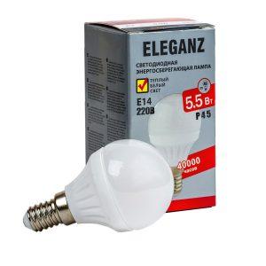 Светодиодная лампа E14 – 5,5Вт шар Eleganz