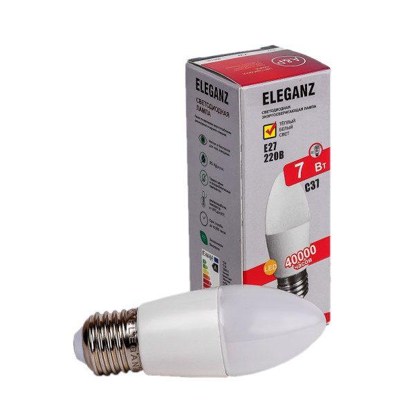 Светодиодная лампа E27-7Вт свеча Eleganz 220V