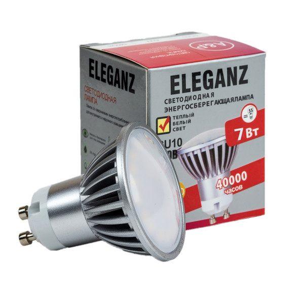 Светодиодная лампа GU10 7Вт Eleganz 220В