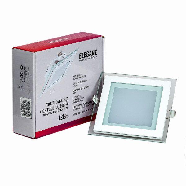 Светодиодный светильник квадратный 12Вт Eleganz квадратный